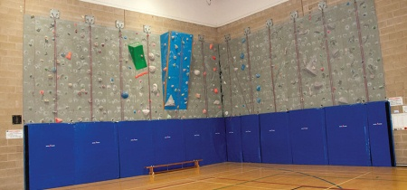 Climbing wall in the sports hall