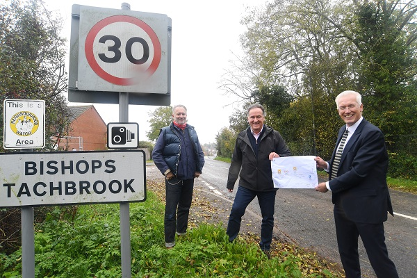 From left to right – Leigh Carter, Cllr Andrew Day and Alistair Clark.