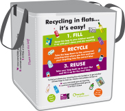 Image of recycling bag for flats
