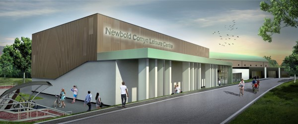 Newbold Comyn Leisure Centre - visual of new building