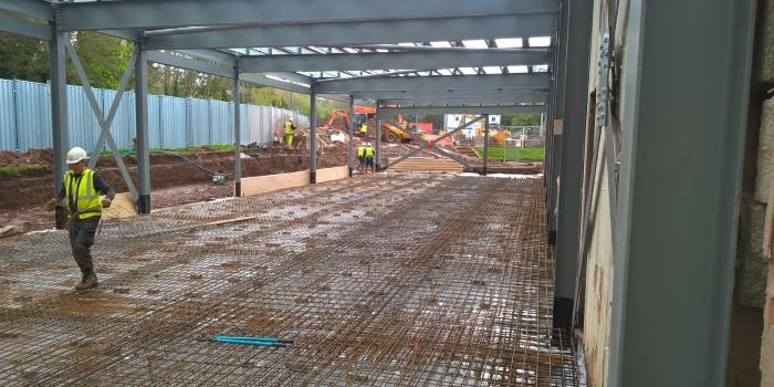 Construction work at Newbold Comyn