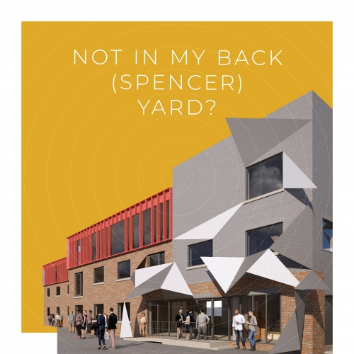 GRaphic image depicting what Spencer Yard might look like