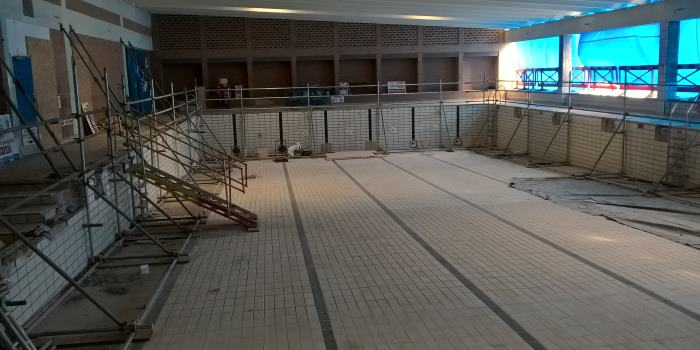 St Nicholas Park building works - pool area