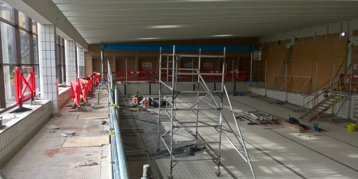 St Nicholas Park pool area - building works in progress