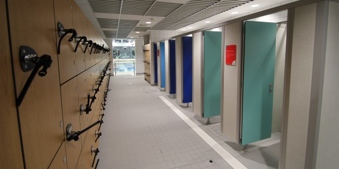 St Nicholas Park leisure centre - new changing rooms