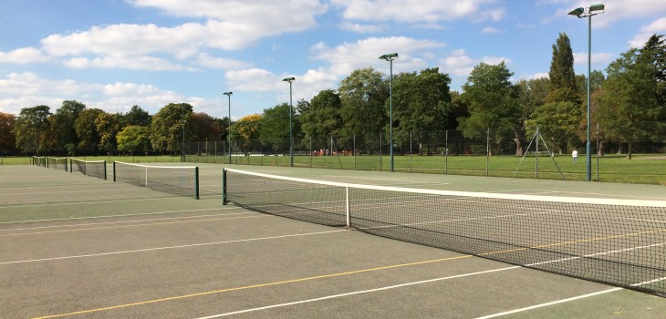 Tennis court in Victoria Park