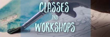 Classes at workshops at Leamington Art Gallery
